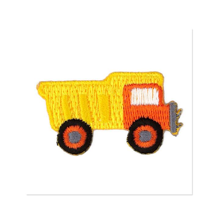 Boutique Applique Dumptruck Yellow/Orange/Multi