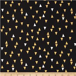Bold & Gold Metallic Floating Triangle Black