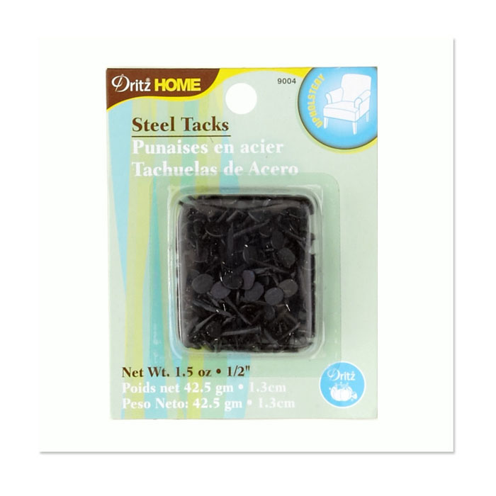 Image of Upholstery Steel Tacks 1/2'' 1.5 Ounce Black