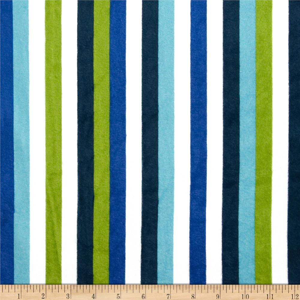 Minky Linus Stripes Blue
