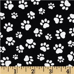 Paw Print Black/White
