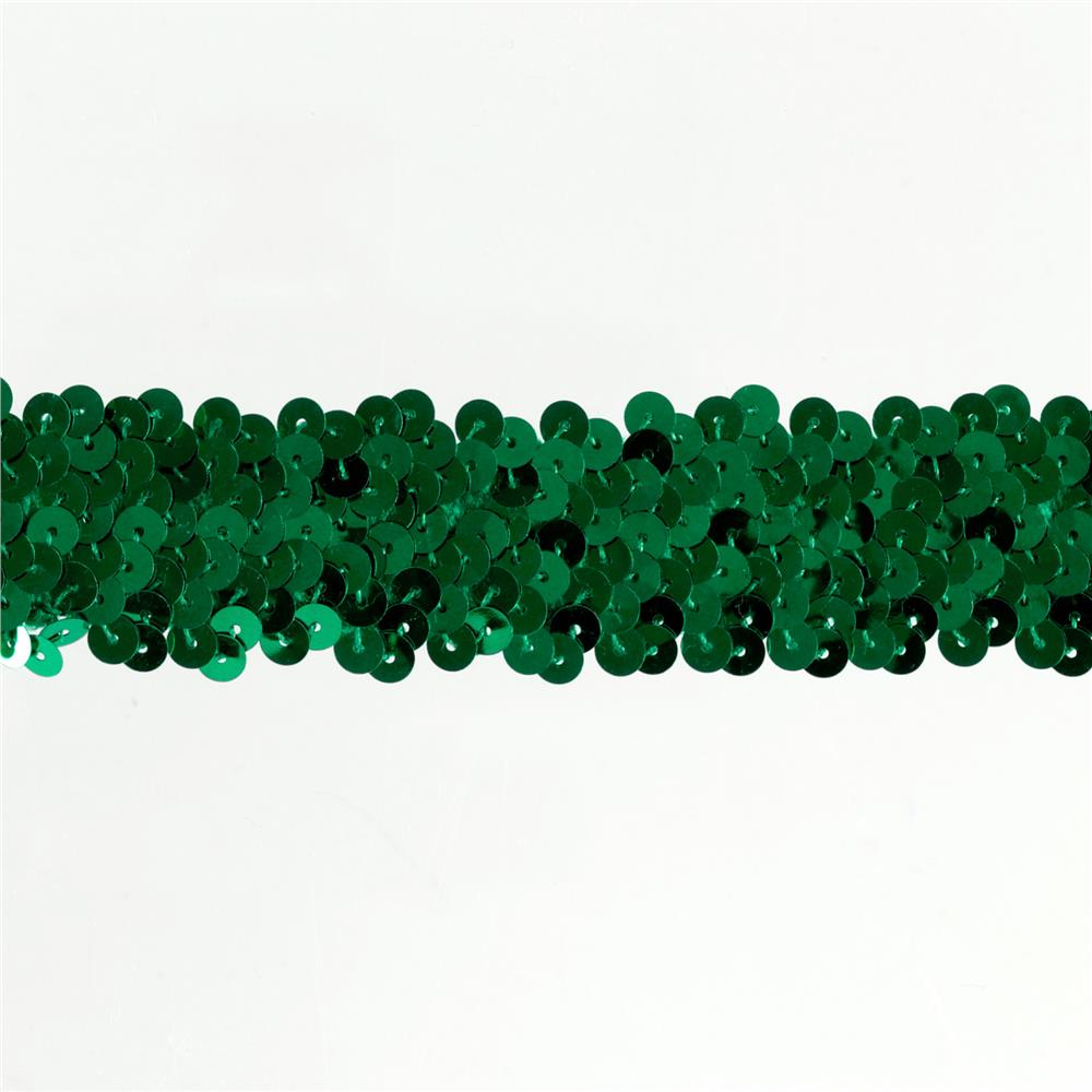 Team Spirit 1.25'' #66 Sequin Trim Kelly Green