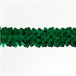 Team Spirit #66 Sequin Trim Kelly Green