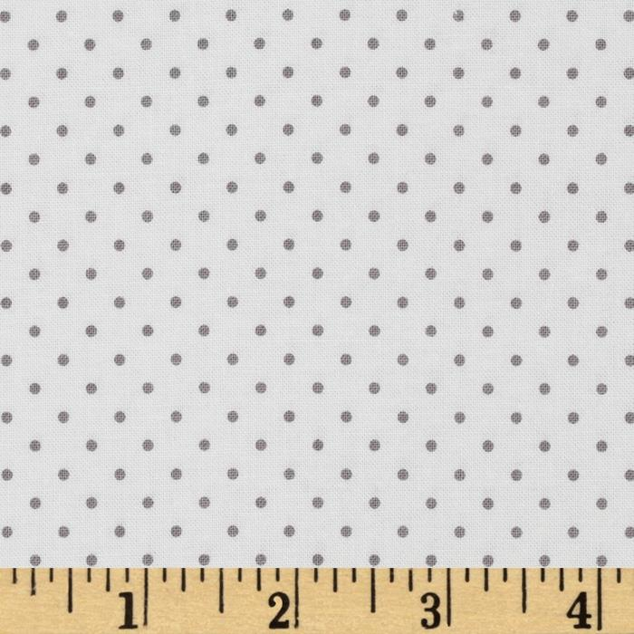 Riley Blake Swiss & Dots White/Gray