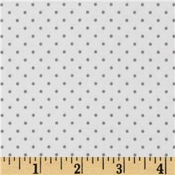 Riley Blake Swiss Dots White/Grey