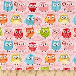 Riley Blake Tree Party Owls Pink
