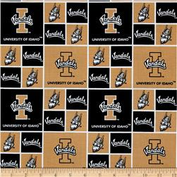 Collegiate Cotton Broadcloth University of Idaho Black Fabric