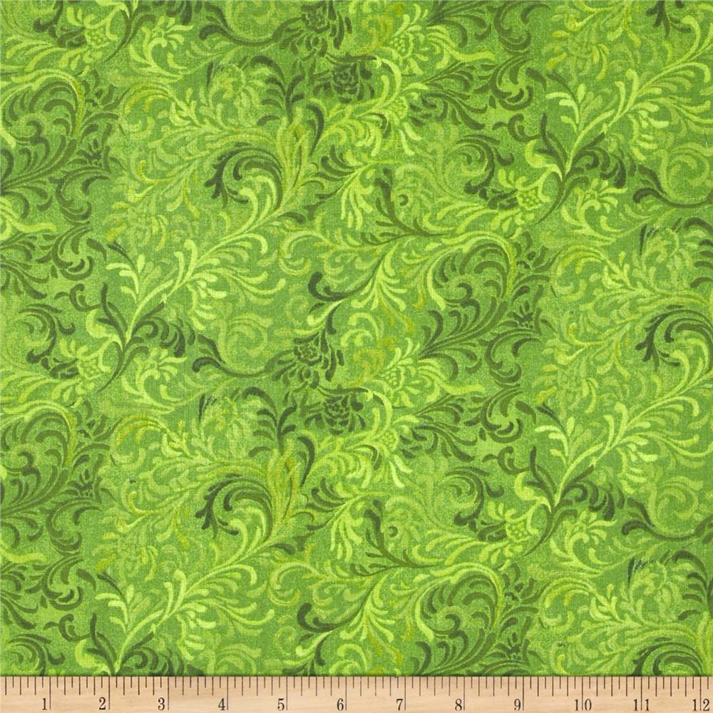 "Essentials 108"" Wide Quilt Back Flourish Green"