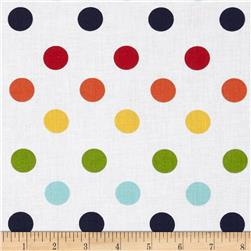 Riley Blake 108'' Wide Medium Dots Rainbow