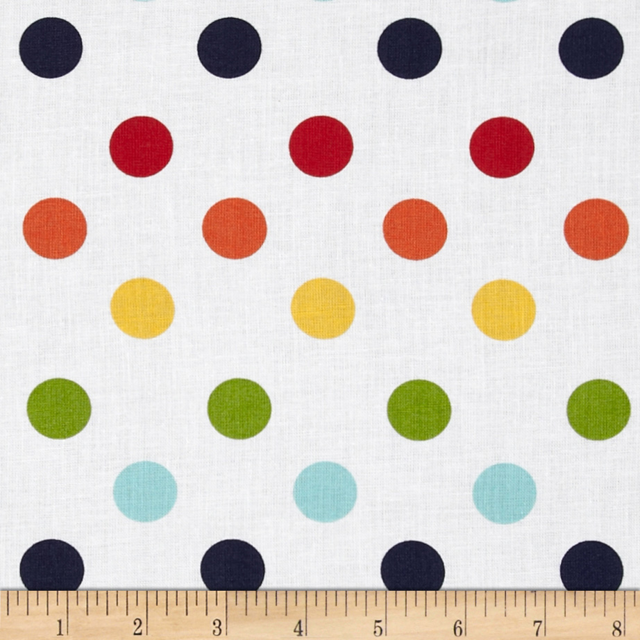 Riley Blake 108'' Wide Medium Dots Rainbow Fabric