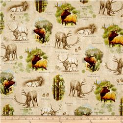 Mountain Elk Vignettes Light Tan