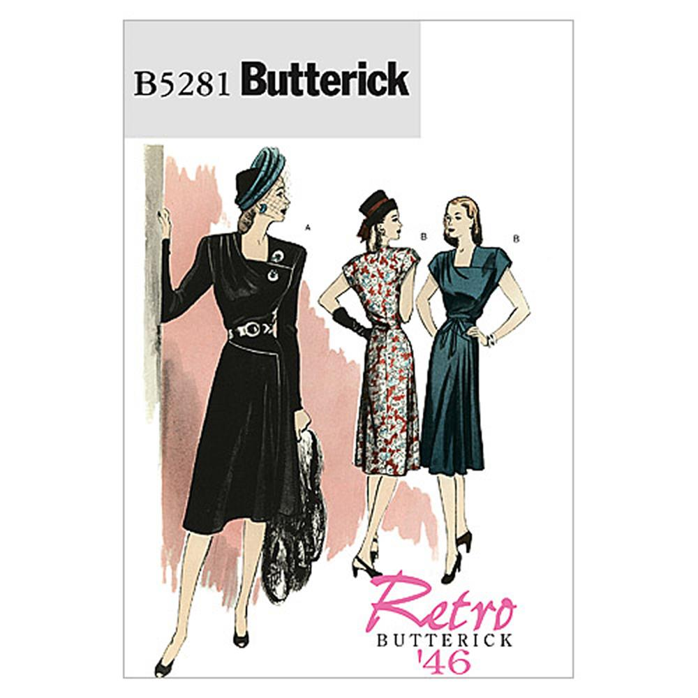 Butterick Misses' Dress and Belt Pattern B5281 Size AA0