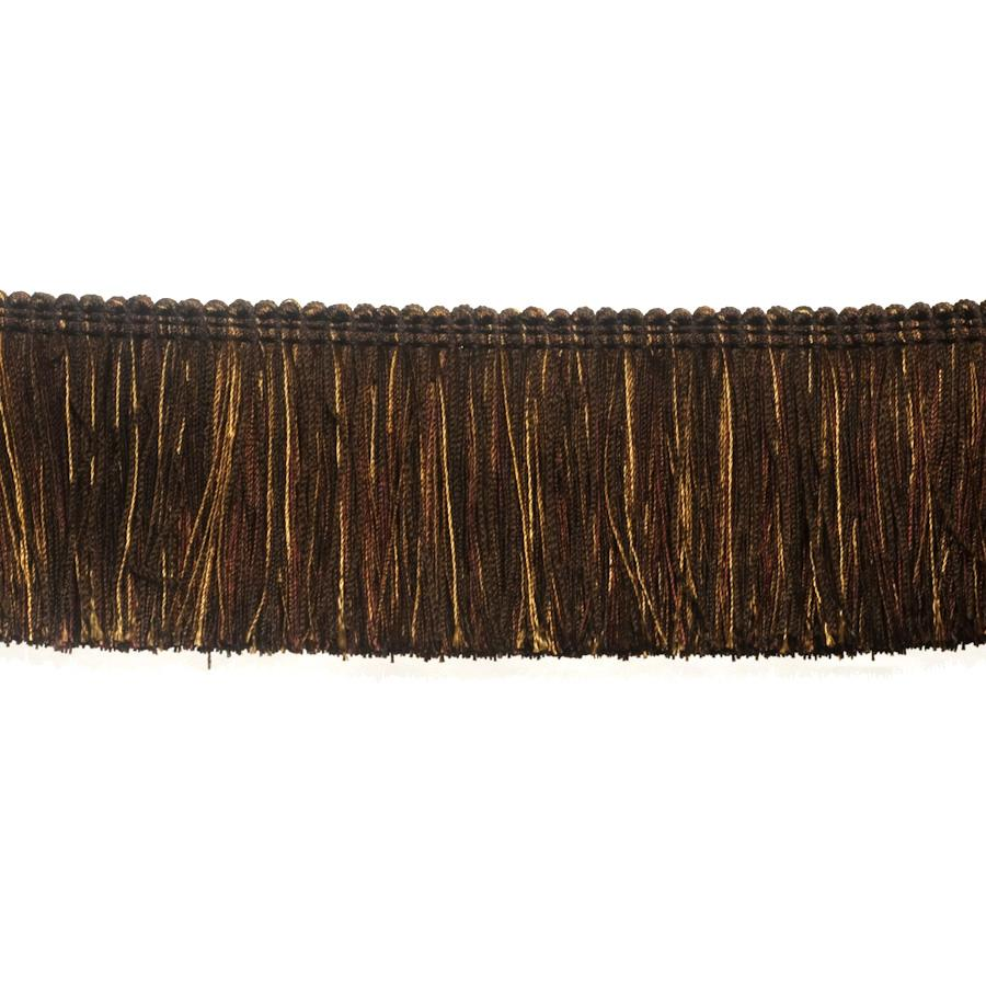 "Fabricut 2.5"" Festoon Brush Fringe Mahogany"