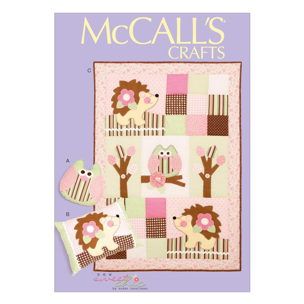 McCall's Pillows and Quilt Pattern M6721 Size OSZ