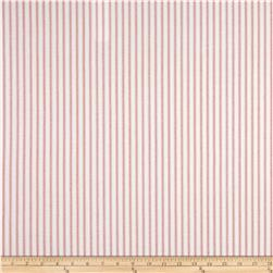 Premier Prints Classic Ticking Stripe  Coral
