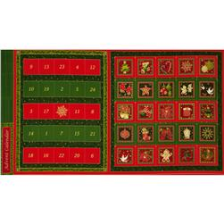 Christmas 2015 Advent Calendar Panel Multi Fabric