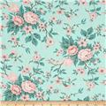 Moda Kindred Spirits Antique Floral Light Aqua