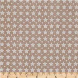 Riley Blake One For The Boys Flannel Stars Grey