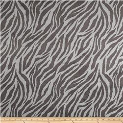 Minky Zebra Cuddle Silver/Charcoal Fabric