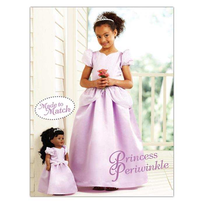Kwik Sew Girls Princess Periwinkle Dress & Doll