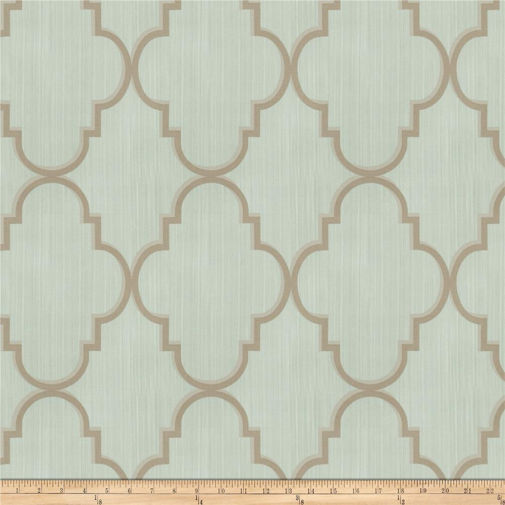 Fabricut Toby Lattice Linen Blend Mineral