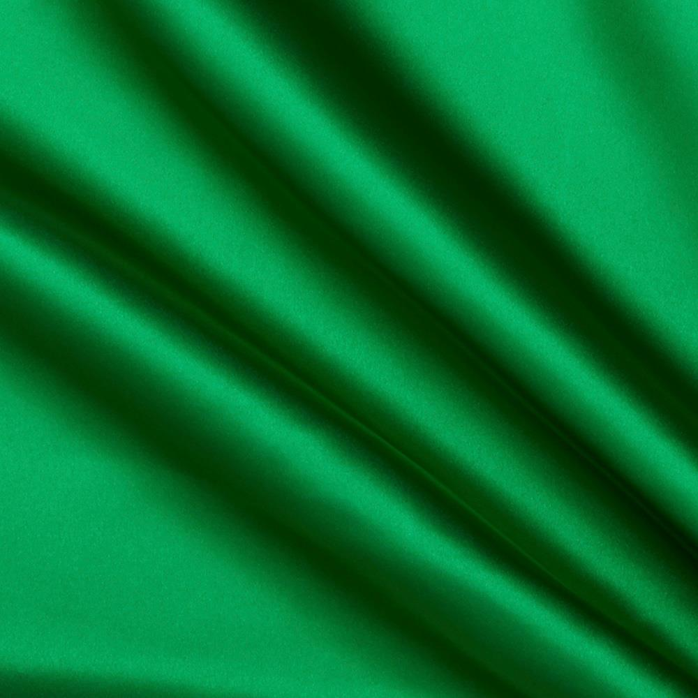 bridal satin kelly green discount designer fabric