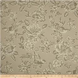 Tempo Indoor/Outdoor Birds Grey Fabric