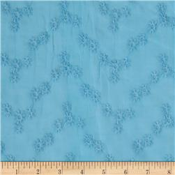 Cotton Vine Floral Eyelet Blue
