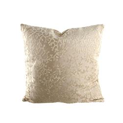 "18"" x 18"" Charleston Coral Throw Pillow Velvet Ivory"