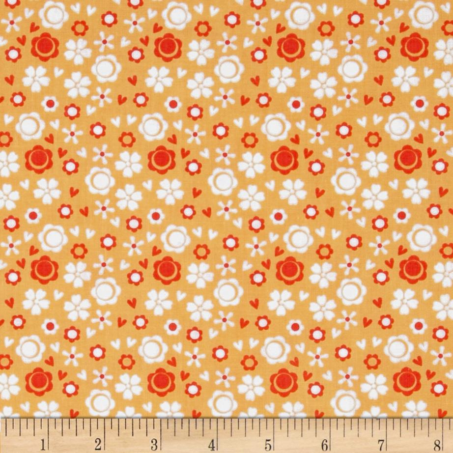 Itty Bitty Ditsy Floral Orange