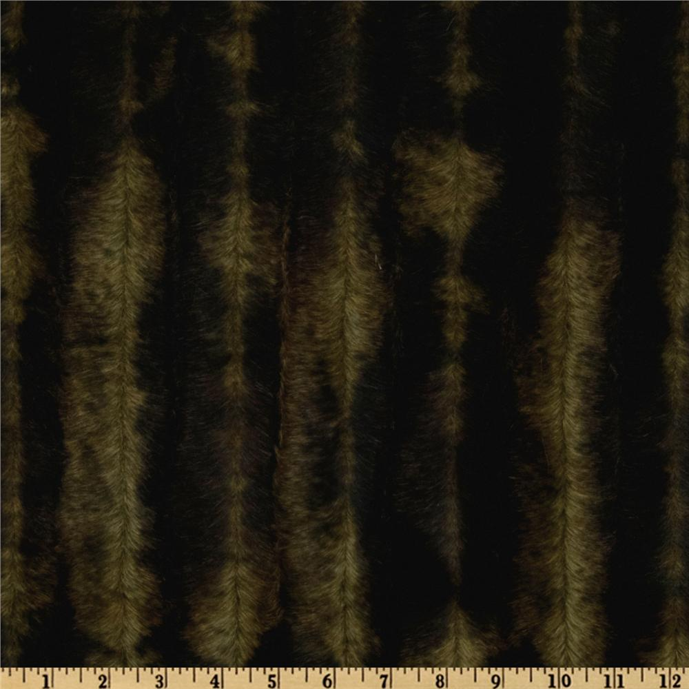 Faux Fur Pelts Texture Black/Olive