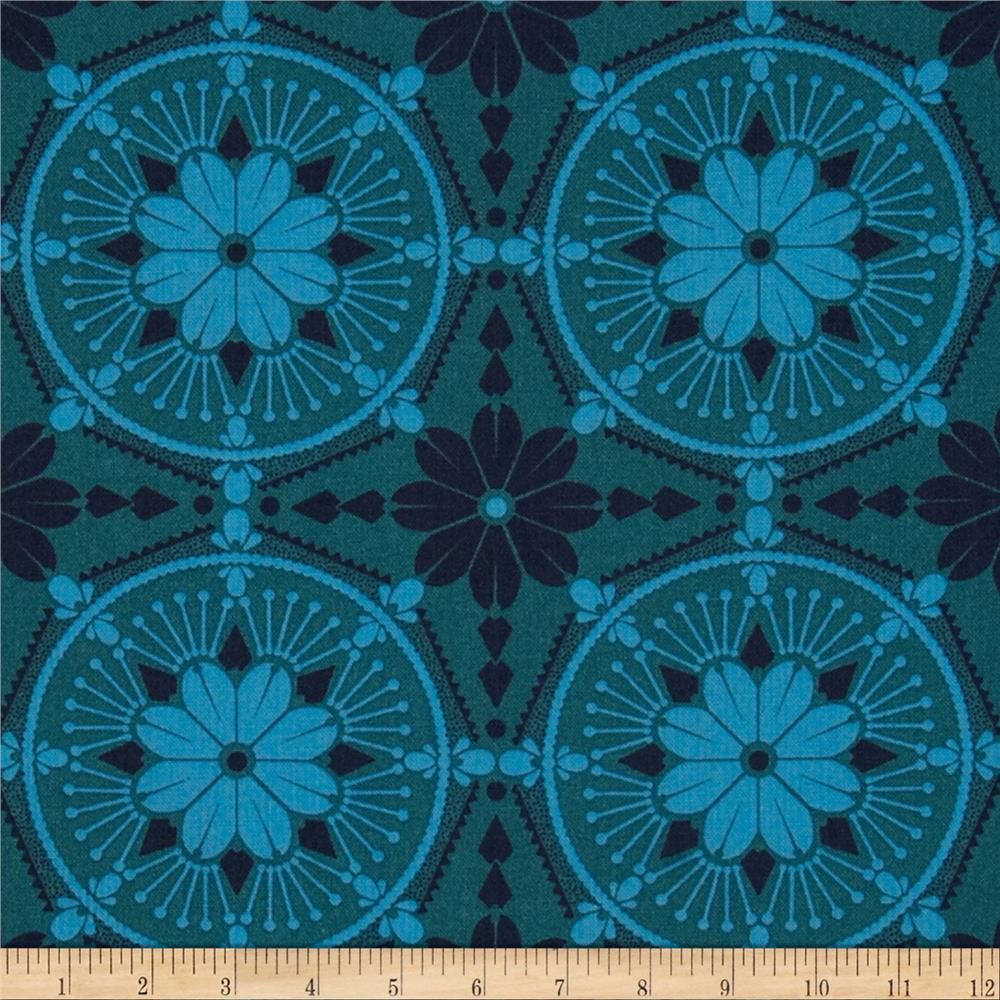 Anna Maria Horner True Colors Medallion Aquamarine