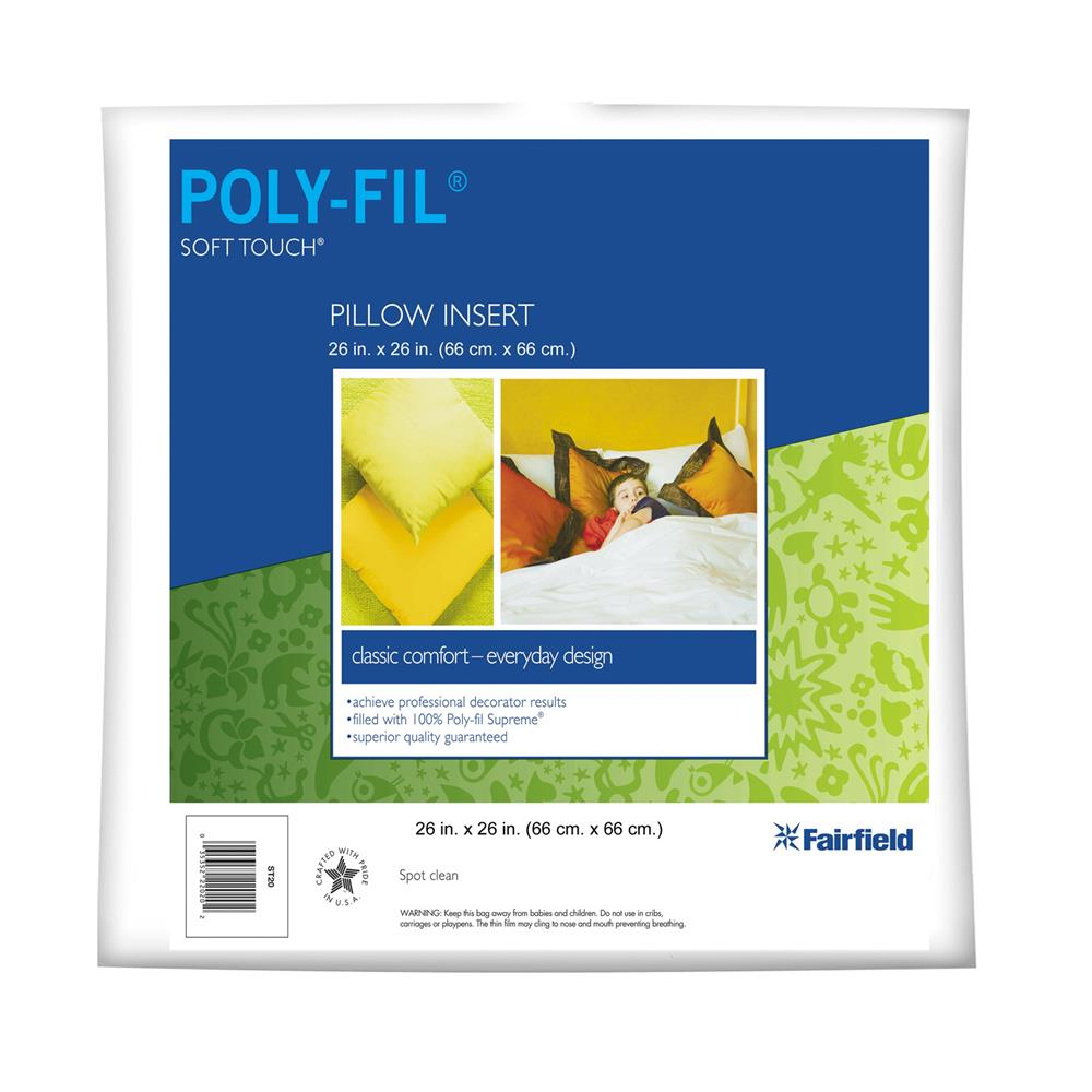 "Fairfield Soft Touch Supreme Poly-Fil Pillow 26"" Square"