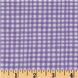 Michael Miller Doggie Play Day Gingham Play Lilac
