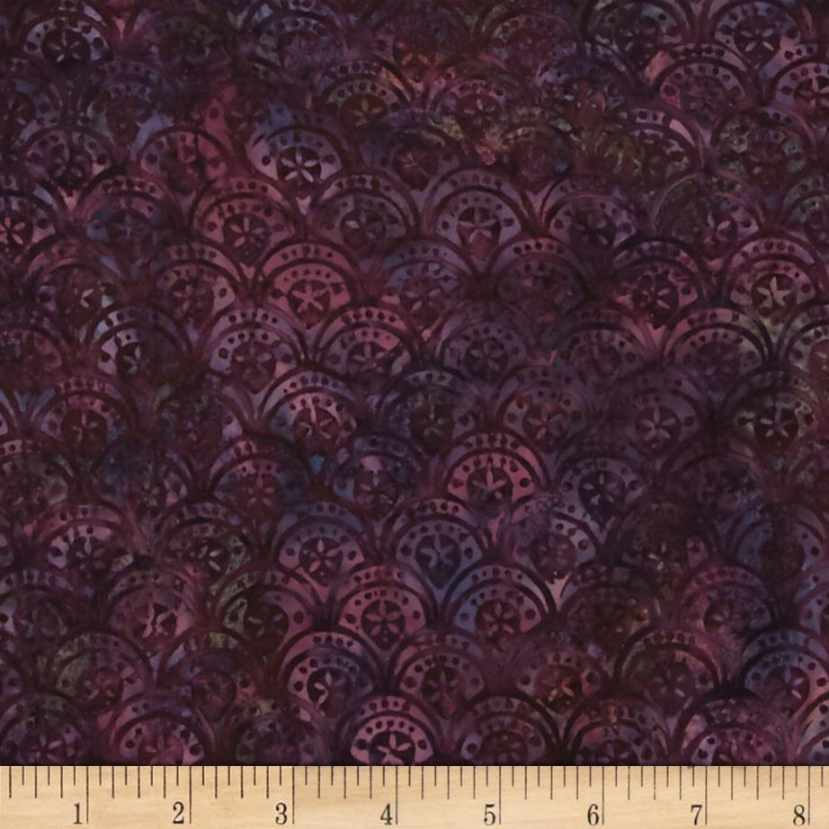 Bali Batiks Handpaints Scallops Purple