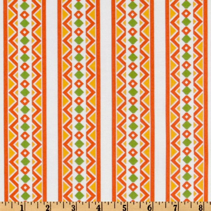 Feedsack Melody Stripes Orange/Ivory