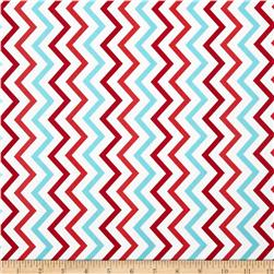 Michael Miller Mini Chic Chevron Aqua