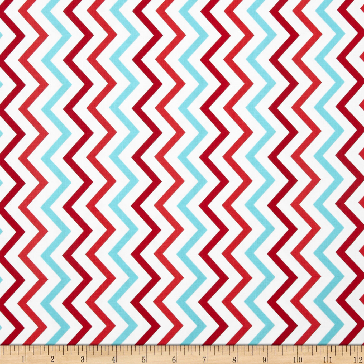 Michael Miller Mini Chic Chevron Aqua Fabric