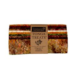 "Timeless Treasures Tonga Autumn Batik 10"" Square Packs"