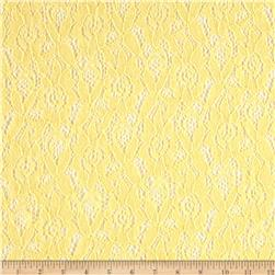 Lace Crochet English Roses Yellow