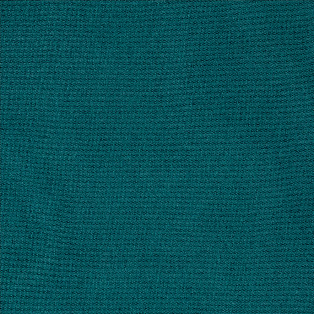 Rayon Jersey Knit Solid Teal Fabric