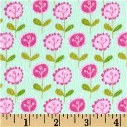 Riley Blake Summer Breeze Flannel Floral Blue Fabric