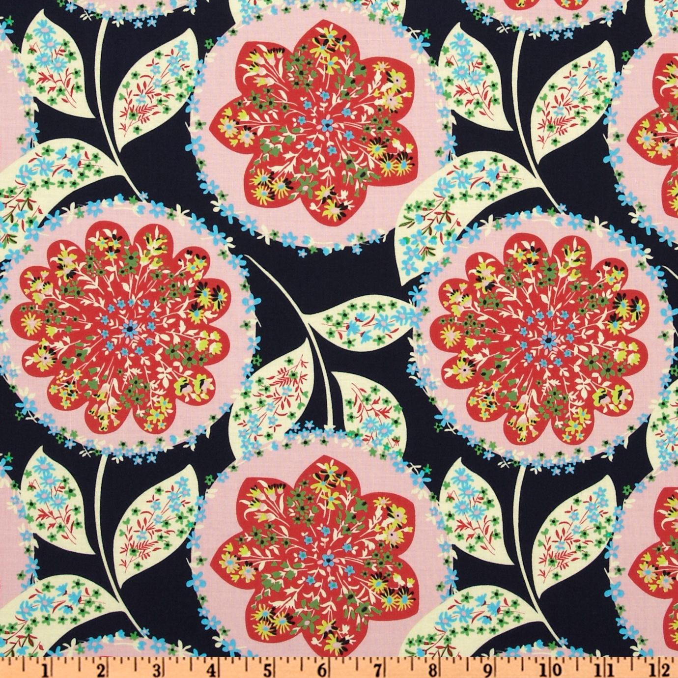 Amy Butler Lark Dreamer Charisma Midnight Blue Fabric