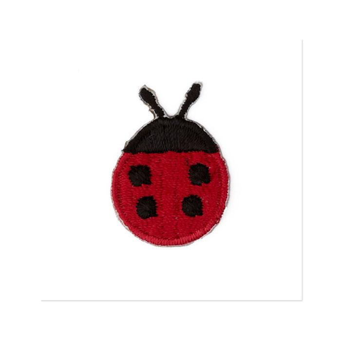 Boutique Applique Ladybug Red/Black