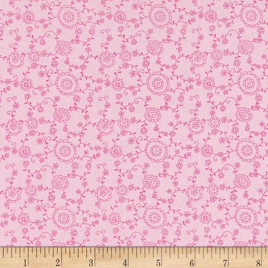 A Bundle of Pink Floral Vine Pink Fabric by Red Rooster in USA