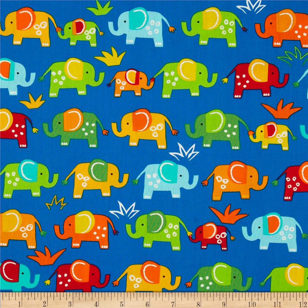 Jungle Creatures Elephants Bright