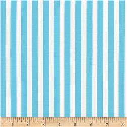 Timeless Treasures Tribeca Simple Stripe Aqua