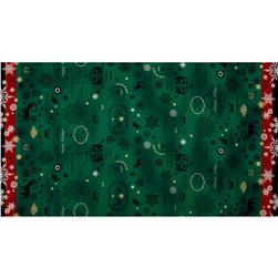Lecien Happy Holidays Double Border Green