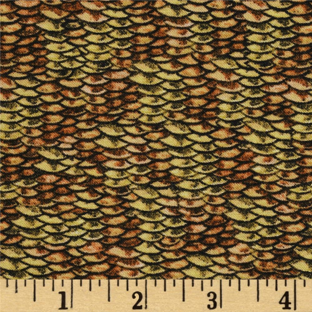 Reel it in fish scales multi discount designer fabric for Fish scale fabric