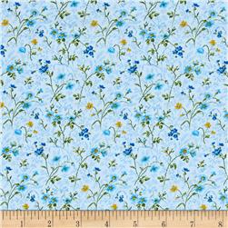 Moda Summer Breeze IV Wild Flowers Blue